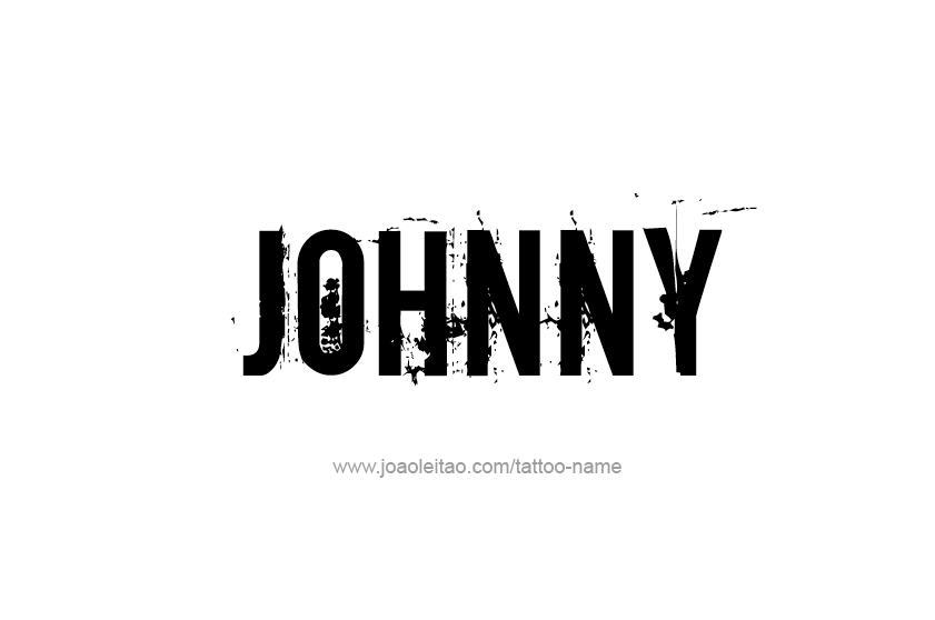 johnny name tattoo designs