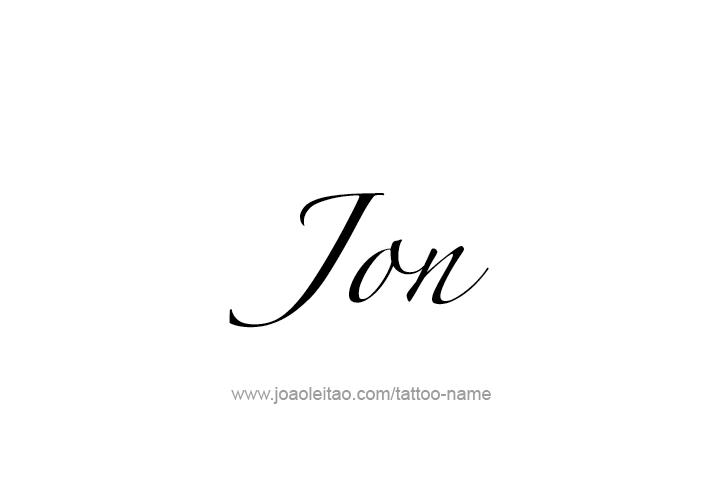Tattoo Design  Name Jon