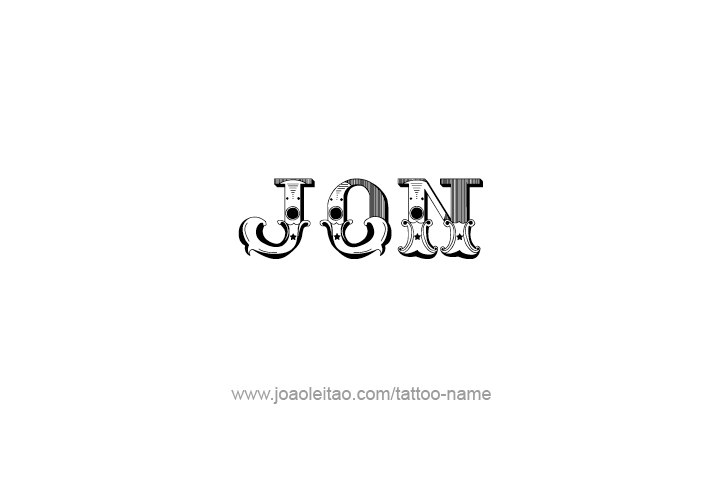 Tattoo Design  Name Jon