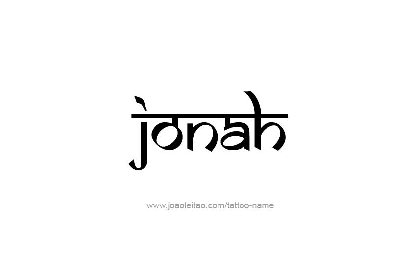 Tattoo Design  Name Jonah