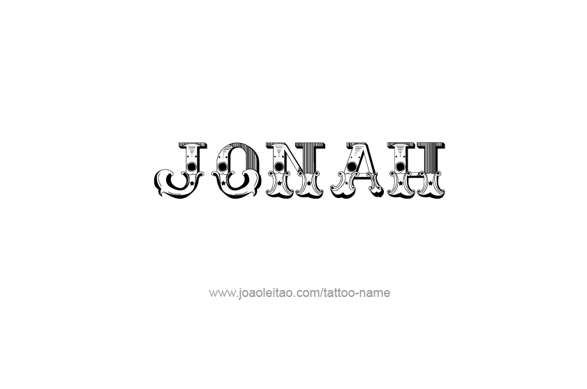 Tattoo Design  Name Jonah