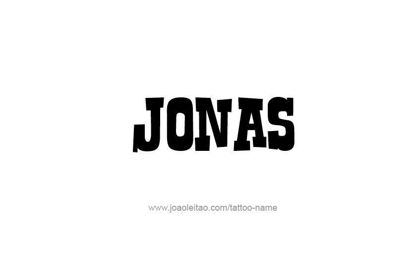 Tattoo Design  Name Jonas