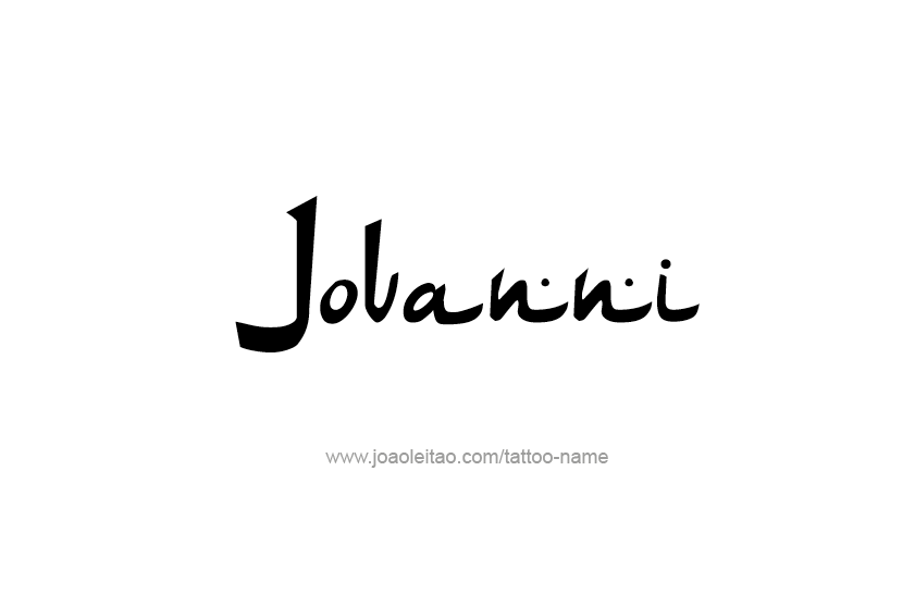 Tattoo Design  Name Jovanni