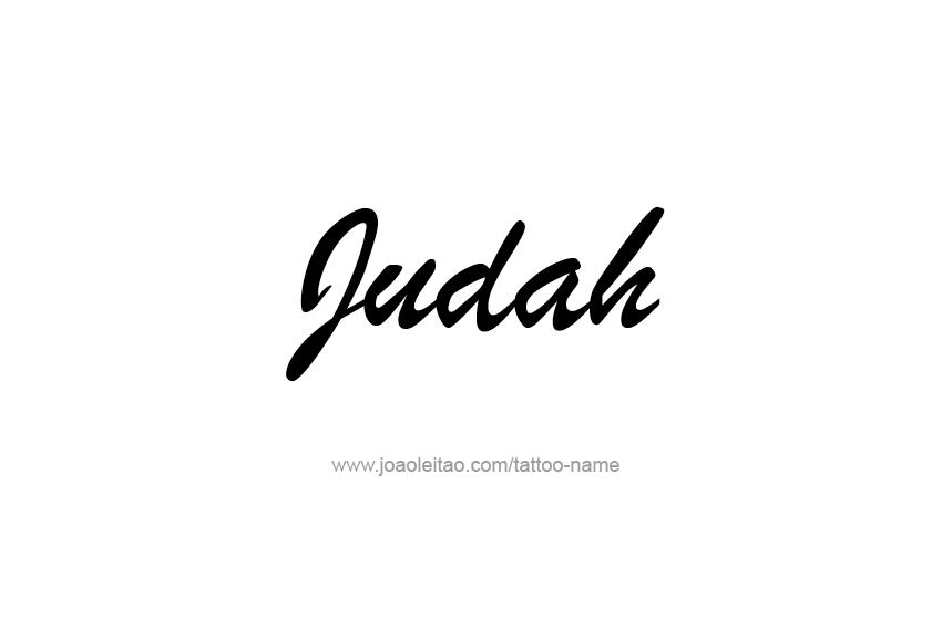 Tattoo Design  Name Judah
