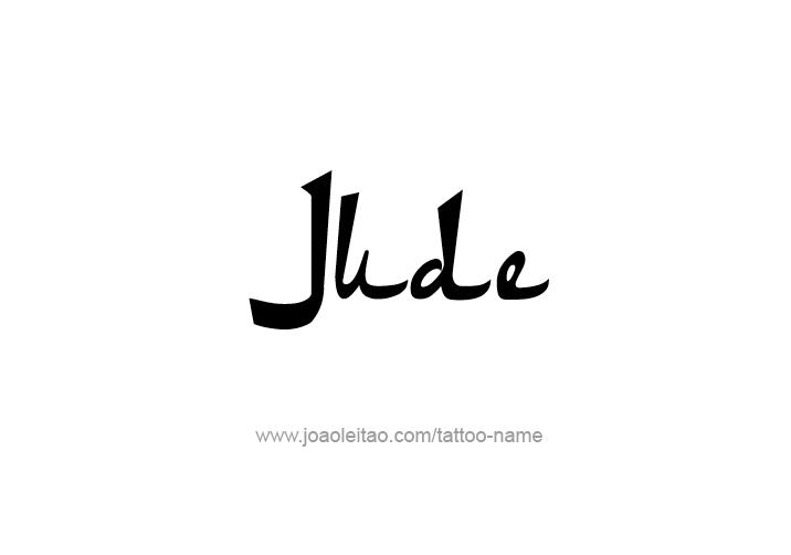 Tattoo Design  Name Jude
