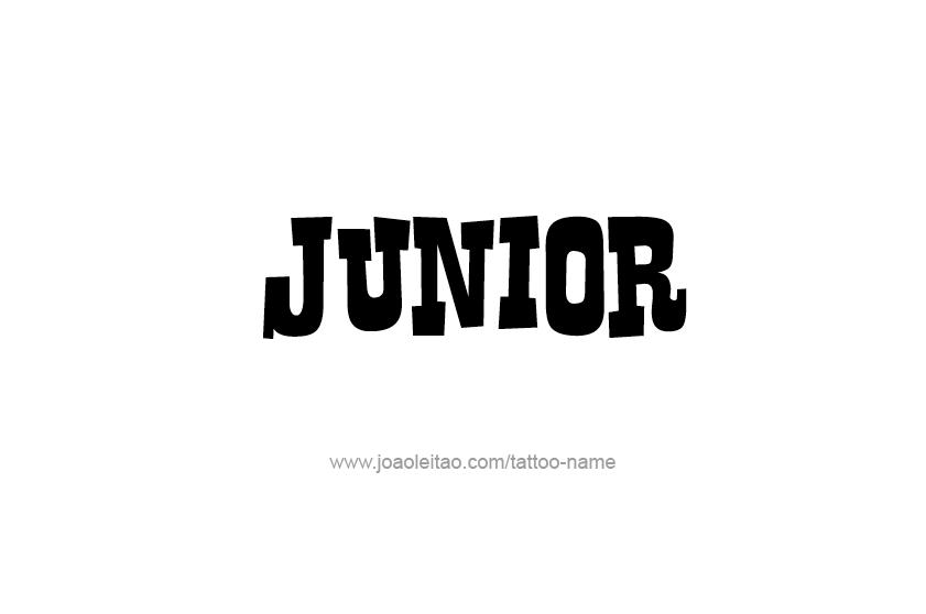 Tattoo Design  Name Junior