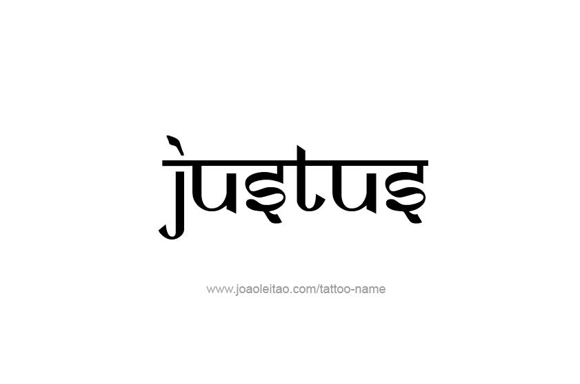 Tattoo Design  Name Justus