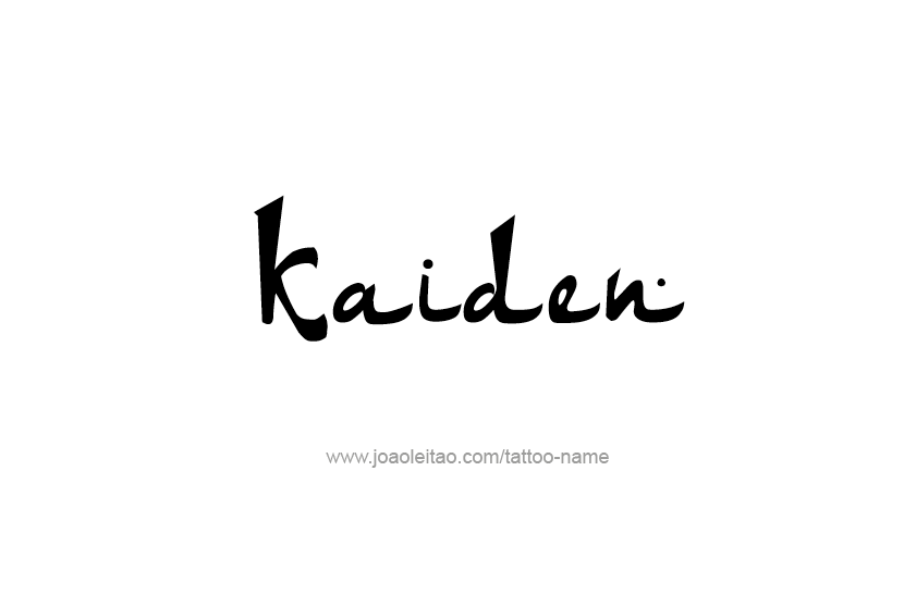 Tattoo Design  Name Kaiden