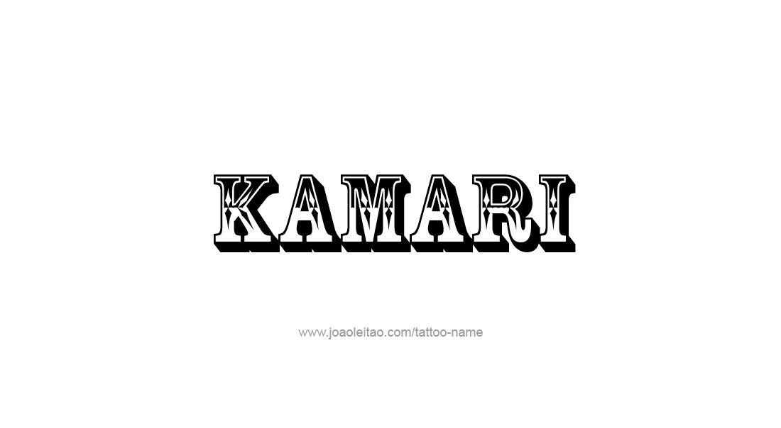 Tattoo Design  Name Kamari
