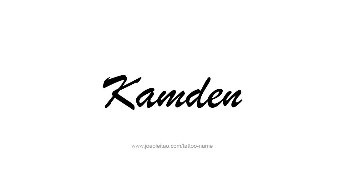 Tattoo Design  Name Kamden