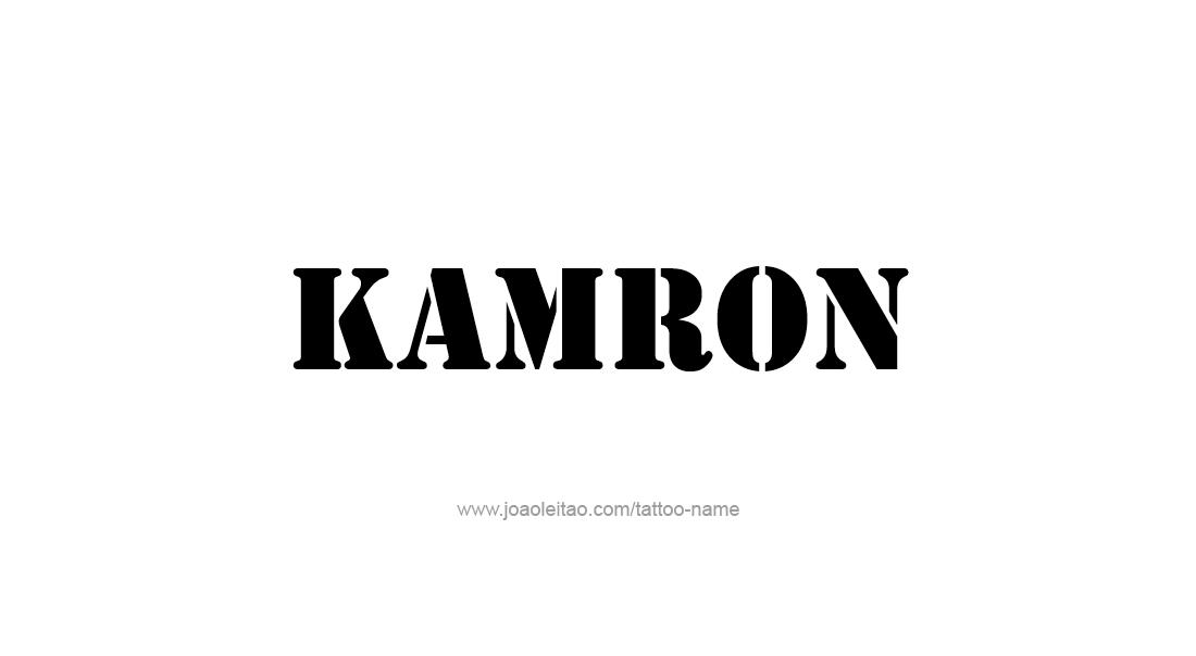 Tattoo Design  Name Kamron