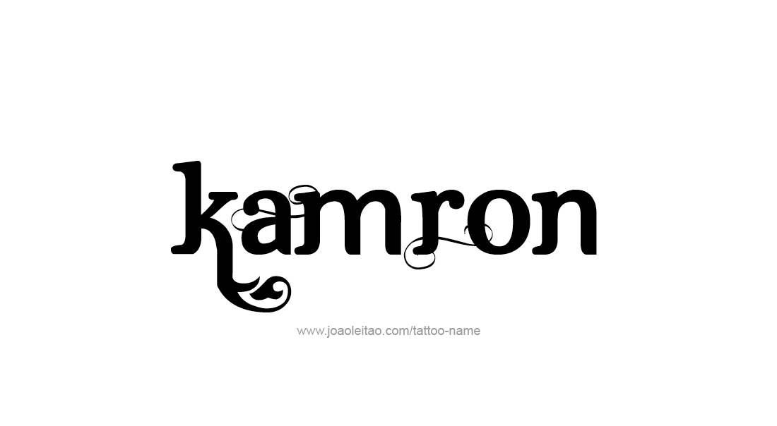 Tattoo Design  Name Kamron