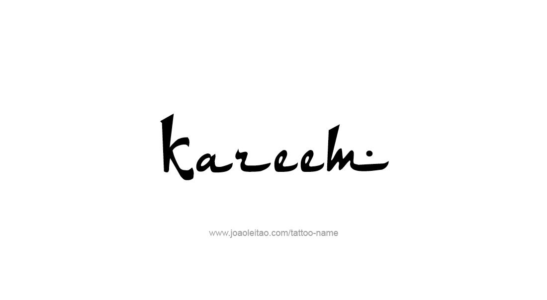 Tattoo Design  Name Kareem
