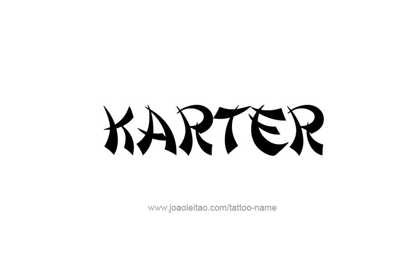 Tattoo Design  Name Karter