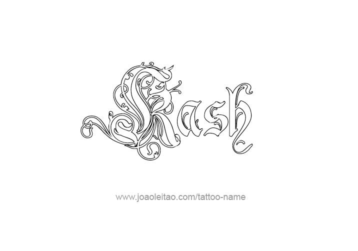 Kash Name Tattoo Designs
