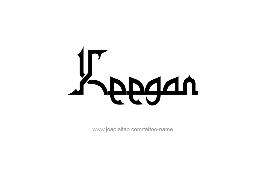 Tattoo Design  Name Keegan