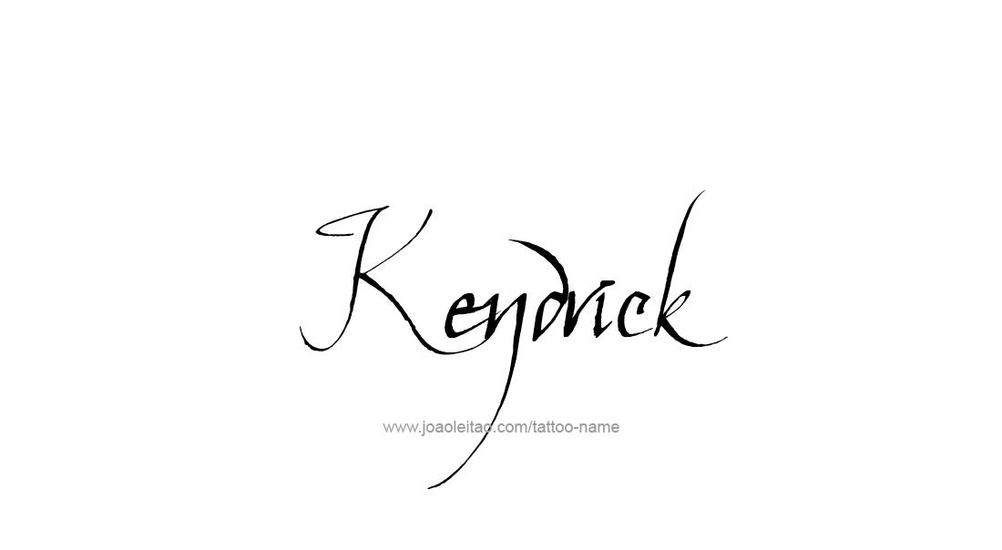 Tattoo Design  Name Kendrick