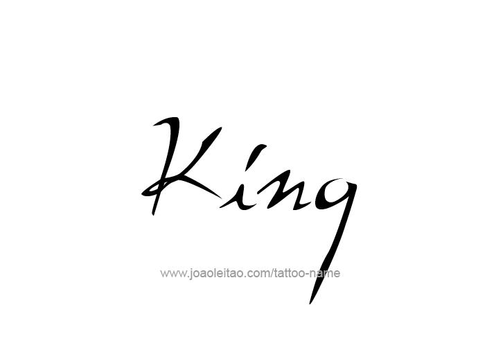 Tattoo Design  Name King
