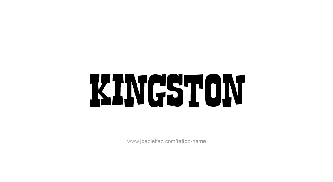 Tattoo Design  Name Kingston