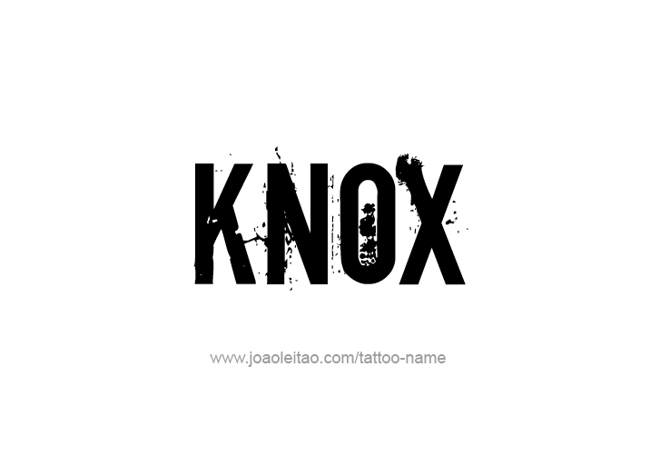 Tattoo Design  Name Knox