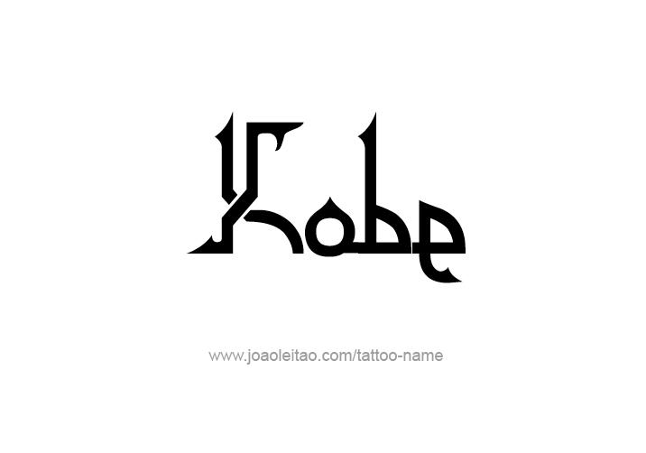 Tattoo Design  Name Kobe