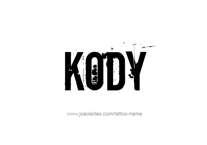 Tattoo Design  Name Kody