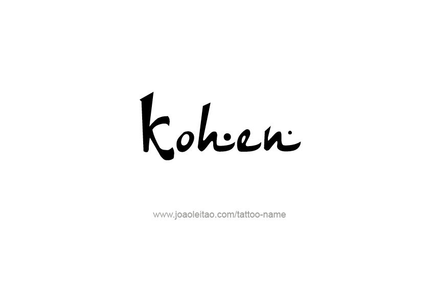 Tattoo Design  Name Kohen