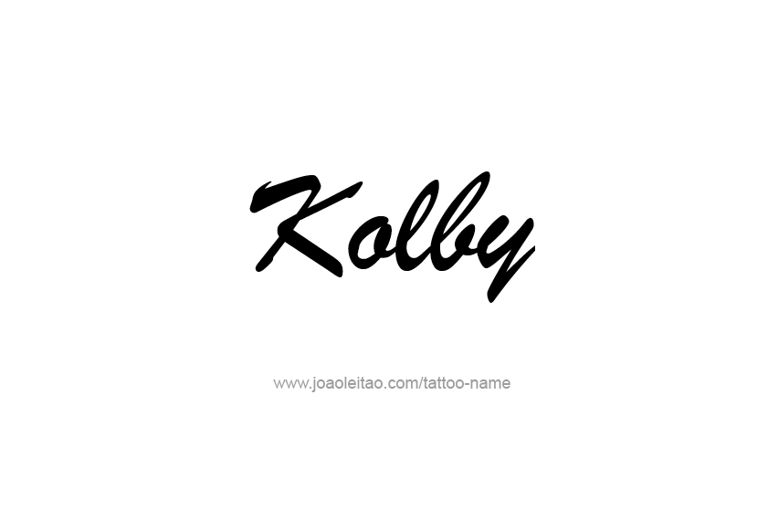 Tattoo Design  Name Kolby