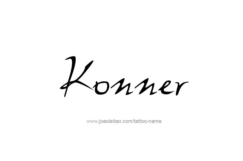 Tattoo Design  Name Konner