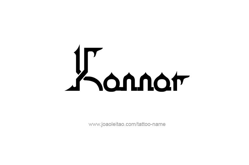 Tattoo Design  Name Konnor
