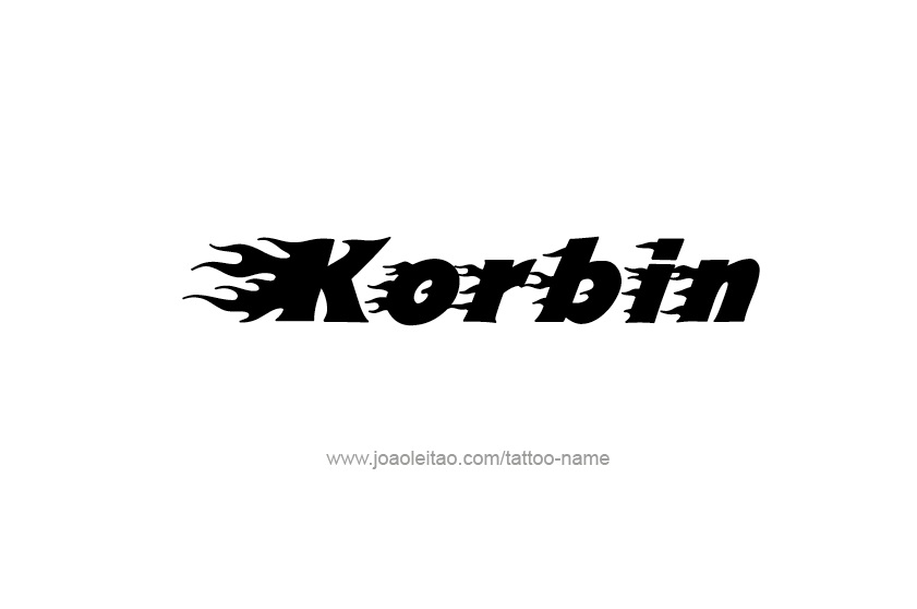 Tattoo Design  Name Korbin