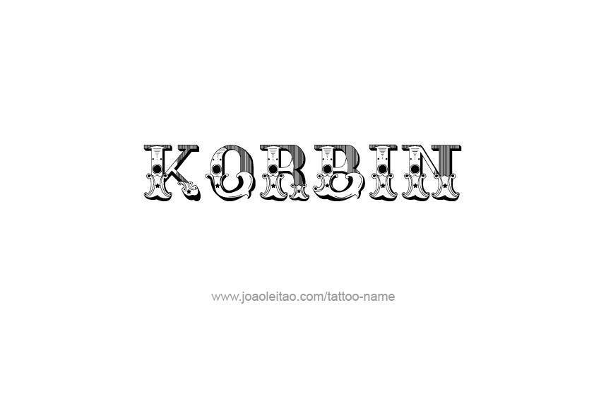 Tattoo Design  Name Korbin