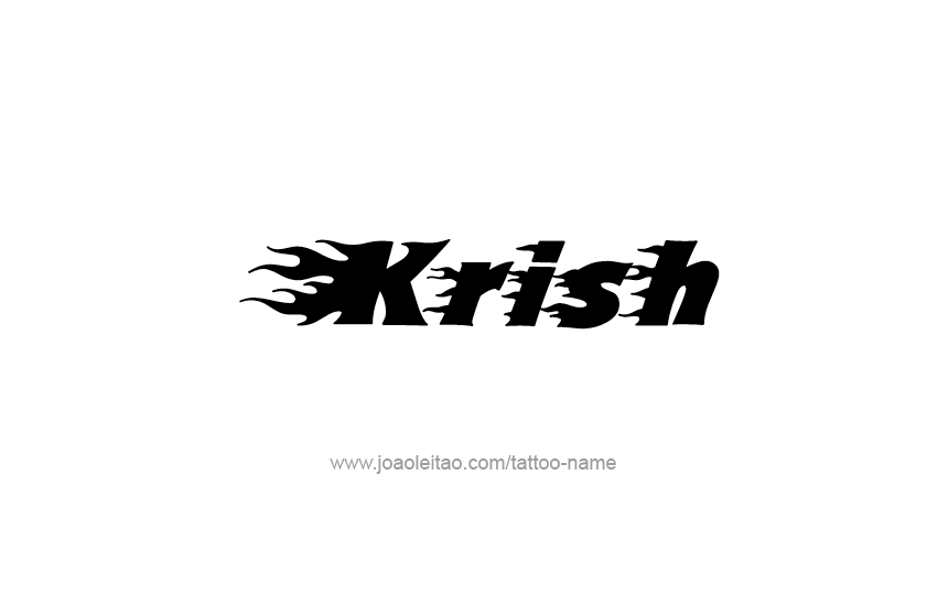 Tattoo Design  Name Krish