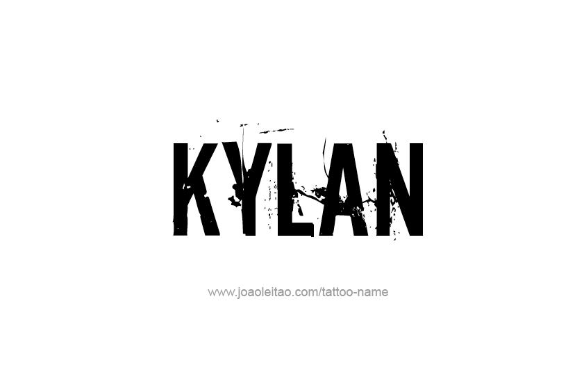 Tattoo Design  Name Kylan