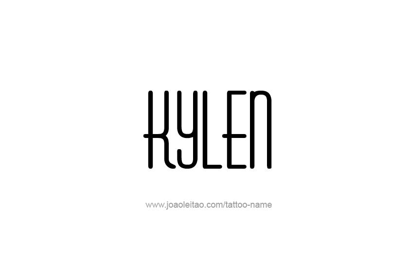 Tattoo Design  Name Kylen
