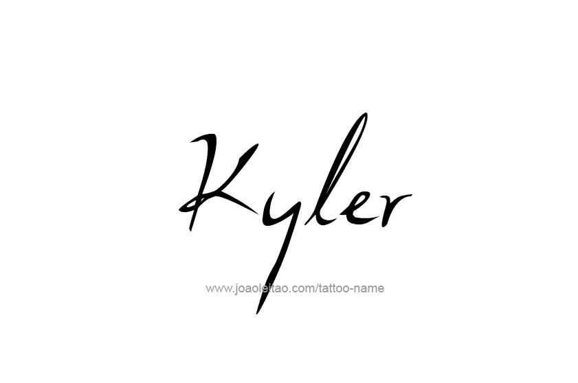 Tattoo Design  Name Kyler