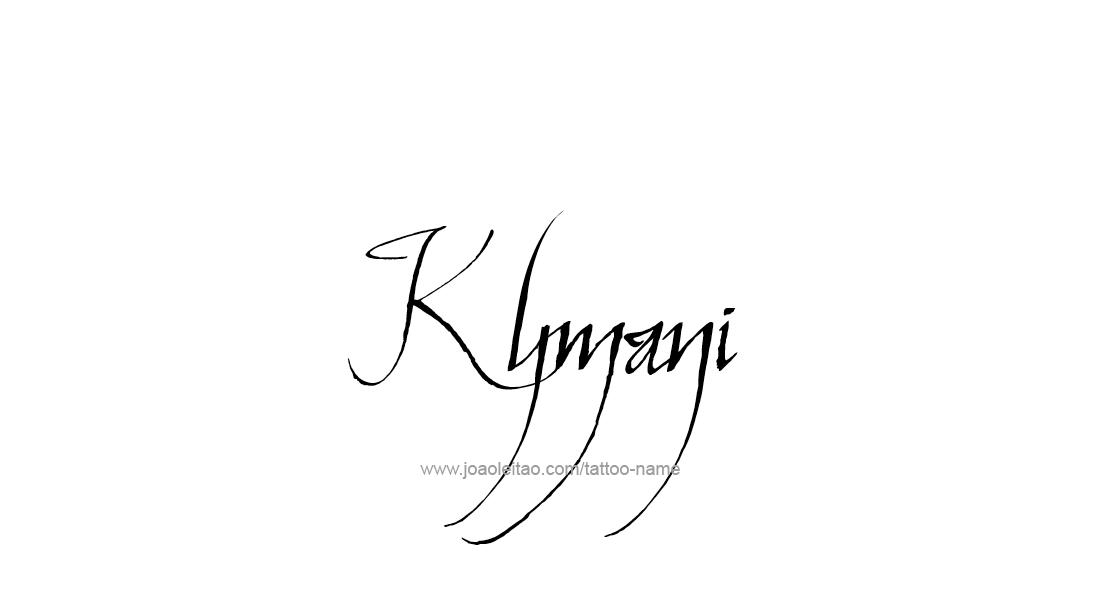Tattoo Design  Name Kymani