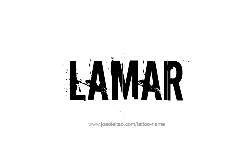 Tattoo Design  Name Lamar