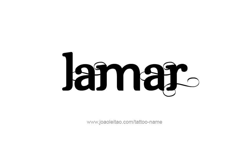 Tattoo Design  Name Lamar