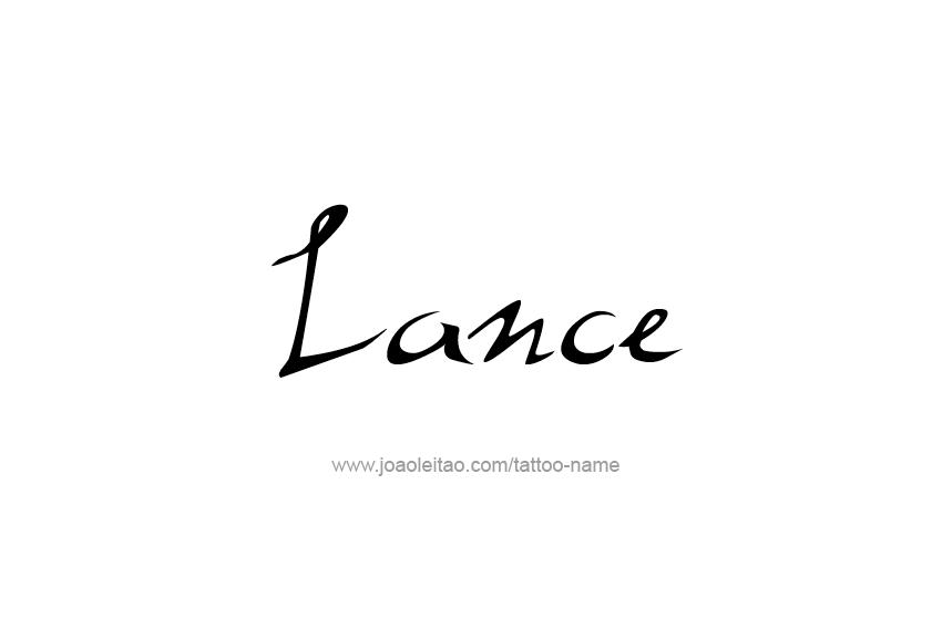 Tattoo Design  Name Lance