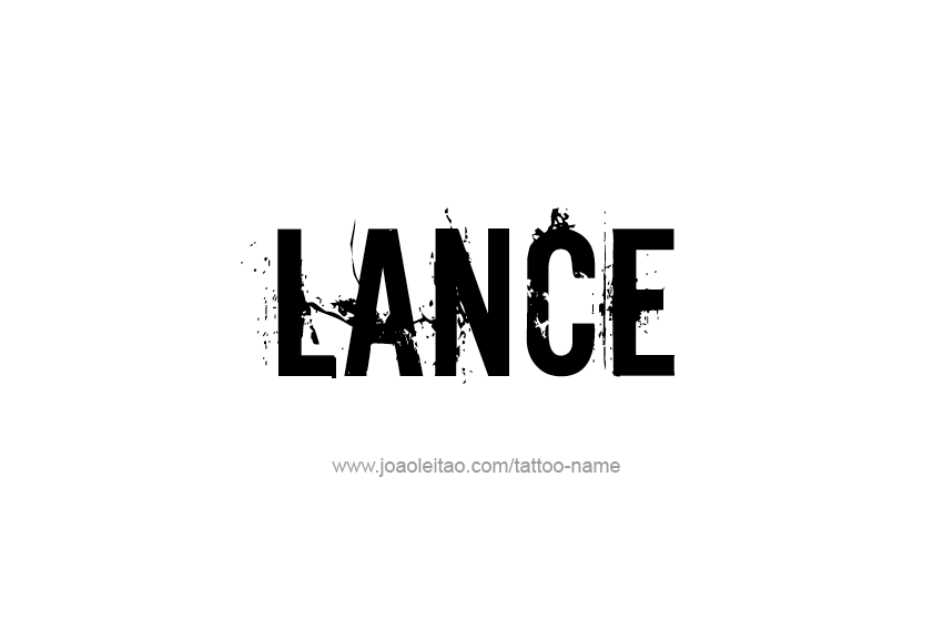 The name Lance spelled in bling diamonds, with shiny, brilliant ...