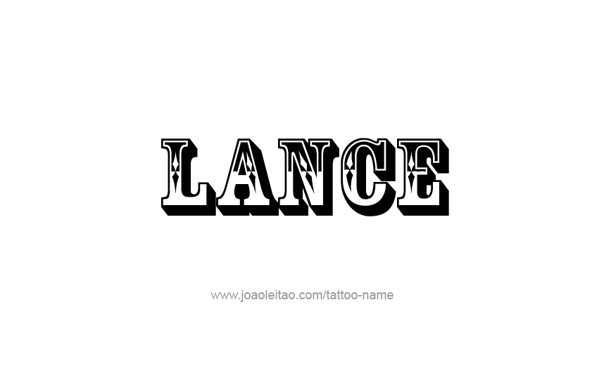 Coloring Page First Name Lance