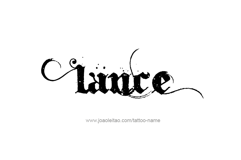 Lance Name Tattoo Designs