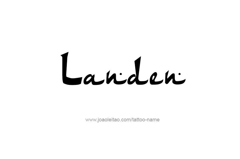 Tattoo Design  Name Landen