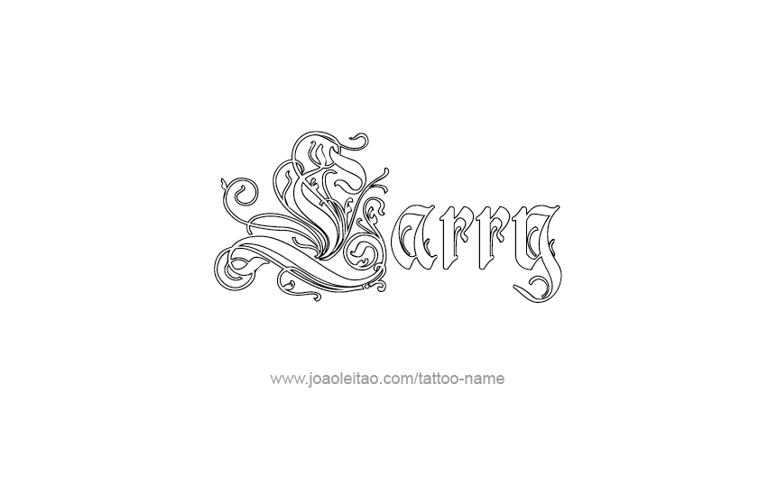 Tattoo Design  Name Larry