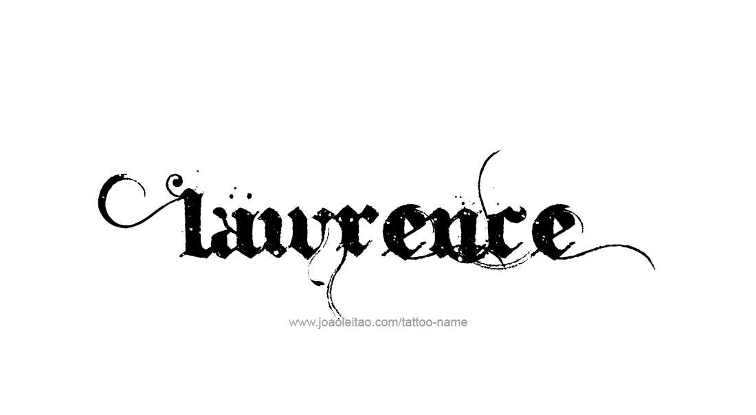 Tattoo Design  Name Lawrence