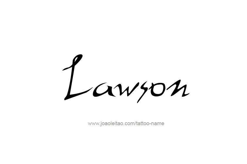 Tattoo Design  Name Lawson