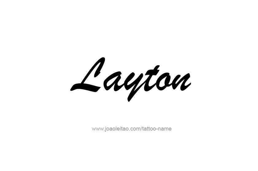 Tattoo Design  Name Layton