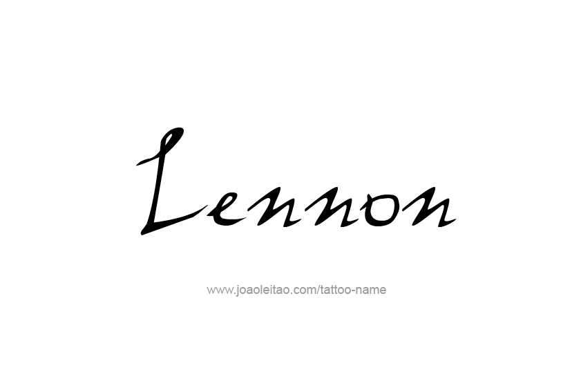 Tattoo Design  Name Lennon