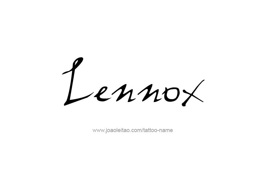Tattoo Design  Name Lennox